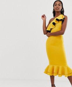 ASOS DESIGN Tall - figurbetontes Kleid mit One-Shoulder-Träger