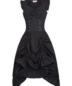Belle Poque Victorian Gothic Renaissance Maxikleid Empire Kleid Stretch Tailliert