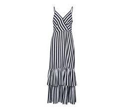 Sl Tiered Maxi Dress Surf Stripe Kleid Knielang Schwarz BANANA REPUBLIC