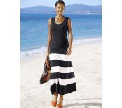 Damen Beachkleid Alba Moda schwarz/weiß