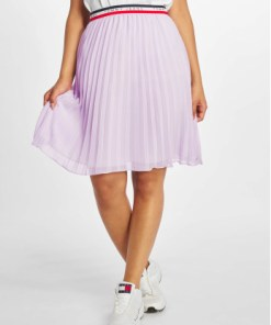 Tommy Jeans Frauen Rock Pleated in violet