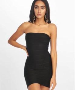 Missguided Frauen Kleid Bandage Bandeau Mini in schwarz