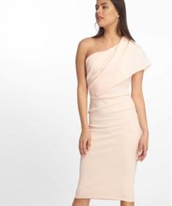 Missguided Frauen Kleid One Shoulder Midi in rosa