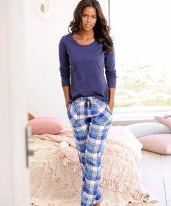 H.I.S Pyjama, mit karierter Hose in Flanellqualität 397622