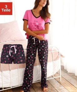 Vivance Dreams Pyjama, mit Kussmund Print 834885
