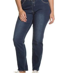 Ulla Popken Bodyforming-Jeans, Sammy, schmales Bein, Knopfleiste - Große Größen 712316