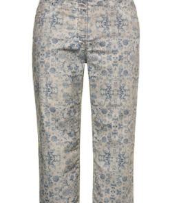 Ulla Popken 7/8-Jeans, bedruckter Denim, 5-Pocket, Komfortbund - Große Größen 716647