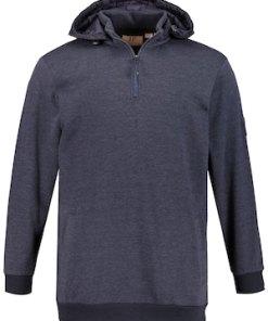 Ulla Popken Hoodie, Kapuzensweater, wattierte Kapuze - Große Größen 716908