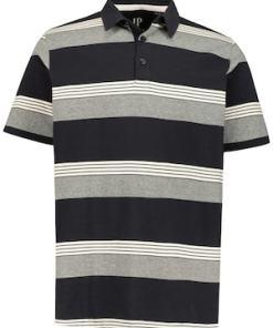 Ulla Popken Poloshirt, Ringelmuster, Jersey - Große Größen 720138
