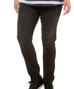 Ulla Popken Curvy-Jeans, Stickerei, Teilungsnähte, Komfortbund - Große Größen 720776