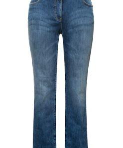 Ulla Popken Jeans Mandy, Used-Look, gerades Bein, 5-Pocket-Form - Große Größen 724626