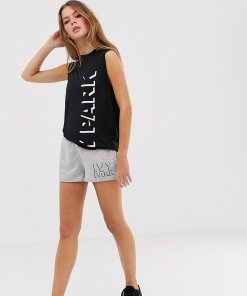Ivy Park - Graue Shorts mit Logo - Grau