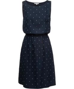TOM TAILOR Minikleid Damen in anchor print dark blue, Größe XS