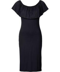 Sommer-Carmen-Kleid aus Jersey in schwarz für Damen von bonprix