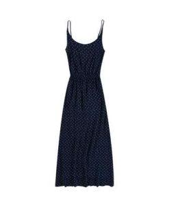 Maxi-Kleid mit süßem Minimal-Print