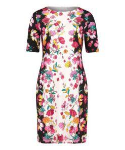Betty Barclay Jerseykleid mit Blumenprint in Schwarz/Pink , Feminin