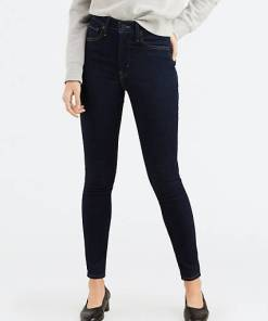 Mile High Super Skinny Jeans - Dunkle Waschung / Celestial Rinse