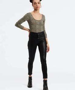 Mile High Ankle Skinny Jeans - Schwarz / Black Serpent Foil