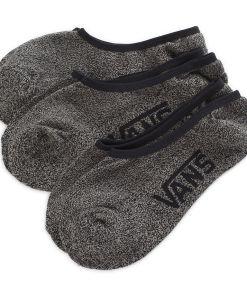 VANS Classic Super No Show Socken (3 Paar) (black Heather) Herren Schwarz, One Size