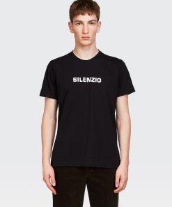Aspesi T-shirts und Polo - T-SHIRT SILENZIO SCHWARZ 100% Baumwolle XS