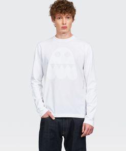 Aspesi T-shirts und Polo - T-SHIRT ATOMS GHOS TON IN TON OPTISCH WEIß 100% Baumwolle S