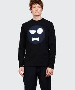 Aspesi T-shirts und Polo - T-SHIRT MIT PRINT KINKY ATOMS SNOBY SCHWARZ 100% Baumwolle XXL