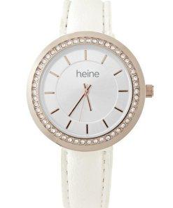 Heine Armbanduhr mit Strass weiß