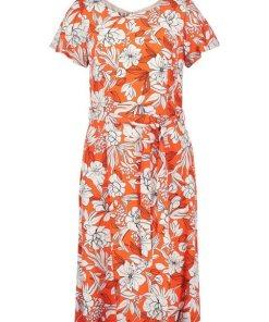 GERRY WEBER Kleid Gewebe »Kleid mit Bindegürtel« rot
