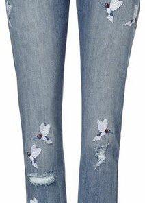 heine CASUAL Boyfriend-Jeans Calea mit Stickerei blau