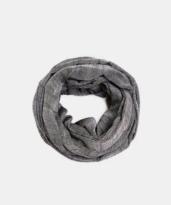 Esprit Loop-Schal aus 100% Baumwolle schwarz