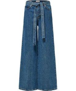 SELECTED FEMME High Waist Wide Fit Jeans blau