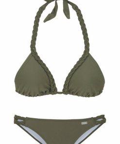Buffalo Triangel-Bikini mit geflochtenen Details grün