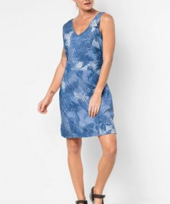 Jack Wolfskin Sommerkleid »WAHIA PALM DRESS« blau