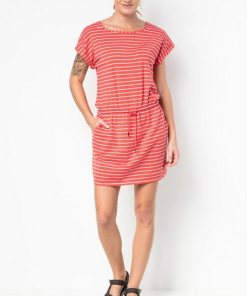 Jack Wolfskin Sommerkleid »TRAVEL STRIPED DRESS« orange