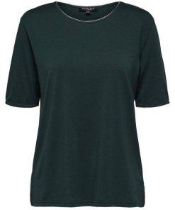 SELECTED FEMME Locker geschnittenes T-Shirt blau