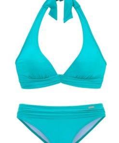 LASCANA Triangel-Bikini mit trendiger Raffung grün