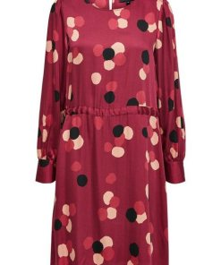 SELECTED FEMME Gepunktetes Kleid rot