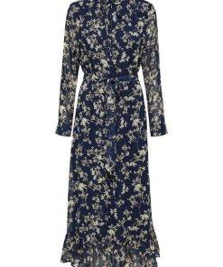 SELECTED FEMME Maxi Blusenkleid blau