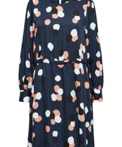 SELECTED FEMME Gepunktetes Kleid blau