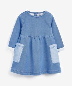 Next Jersey-Sweatstoff-Kleid blau