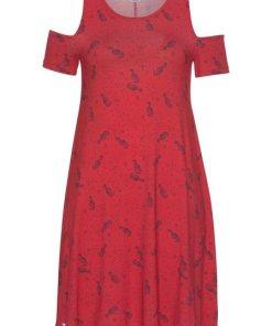 KangaROOS A-Linien-Kleid mit freien Schultern rosa