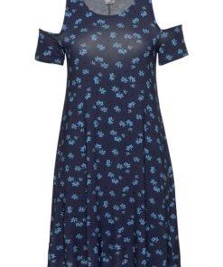 KangaROOS A-Linien-Kleid mit freien Schultern blau