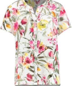 GERRY WEBER Bluse 1/2 Arm »Kurzarmbluse mit floralem Print« bunt