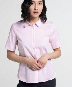 Eterna Kurzarm Bluse »MODERN CLASSIC« rosa