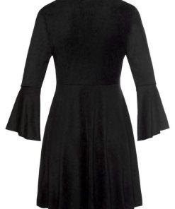 LASCANA Minikleid in Velourlederoptik schwarz
