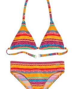 Buffalo Triangel-Bikini mit Ethno-Druck gelb