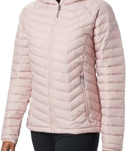 Columbia Outdoorjacke »Powder Lite Kapuzenjacke Damen« rosa