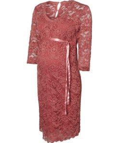 Mamalicious Spitzen- Umstandskleid rosa