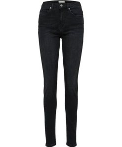 SELECTED FEMME High Waist Skinny Fit Jeans schwarz