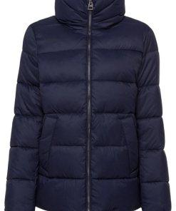 Esprit Winterjacke mit gestreiften Ripsbändern blau